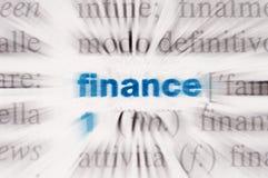 Finanzas de la palabra Fotografía de archivo libre de regalías
