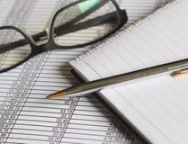 Finanzas de las cuentas Fotos de archivo libres de regalías