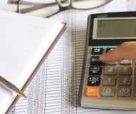 Finanzas de las cuentas Foto de archivo libre de regalías