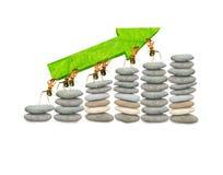 Finanzas de las hormigas Imagen de archivo libre de regalías