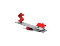 Finanzas de las propiedades inmobiliarias Imagen de archivo