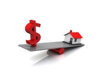Finanzas de las propiedades inmobiliarias Imagen de archivo libre de regalías