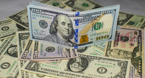Finanzas de los dólares del dinero Fotos de archivo