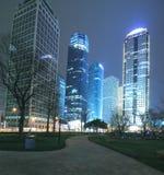 Finanzas de Shangai Lujiazui y paisaje urbano de los edificios de la ciudad Foto de archivo