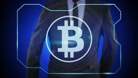 finanzas del concepto, moneda, tecnología digital monedas Bitcoin, stock de ilustración