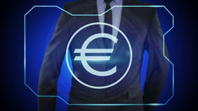finanzas del concepto, moneda, tecnología digital monedas, euro, Europa, EUR libre illustration