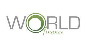Finanzas del mundo de la insignia Imagen de archivo libre de regalías