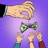 Finanzas del negocio del señuelo del efectivo de la mano Foto de archivo