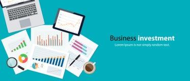 Finanzas del negocio y concepto de la bandera de la inversión Fotografía de archivo