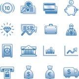 Finanzas del vector, depositando el conjunto del icono Imagen de archivo