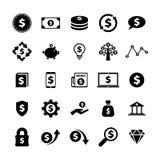 Finanzas e icono del dinero foto de archivo