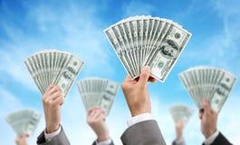 Finanzas e inversión de la financiación de la muchedumbre Foto de archivo libre de regalías