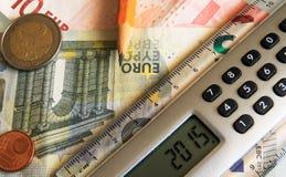 Finanzas en 2015 Imagen de archivo