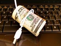 Finanzas en línea. Fotografía de archivo libre de regalías