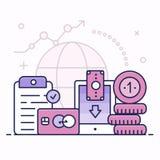 Finanzas globales, concepto del ejemplo stock de ilustración