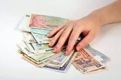 Finanzas internacionales foto de archivo