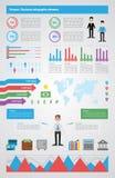 Finanzas modernas infographic, ejemplos del vector Imagenes de archivo