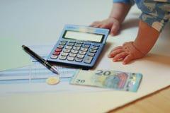 Finanzas para los principiantes completos Foto de archivo