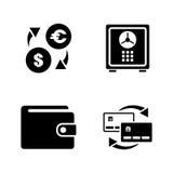 Finanzas personales Iconos relacionados simples del vector Foto de archivo