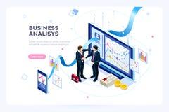 Finanzas virtuales de la inversión contemporánea del márketing stock de ilustración