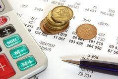 Finanzas y asunto foto de archivo