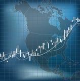Finanzas y economía de Norteamérica ilustración del vector