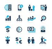 Finanzas y estrategias empresariales //Azure Series libre illustration