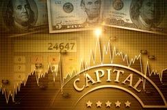 Finanzas y mercado empresarial Fotografía de archivo libre de regalías