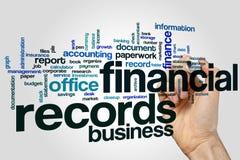 Finanzaufzeichnungen fassen Wolkenkonzept auf grauem Hintergrund ab Lizenzfreie Stockfotografie