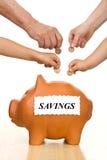 Finanzausbildung und Geldeinsparungkonzept Stockfotos
