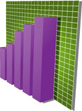 Finanzbalkendiagrammabbildung Lizenzfreie Stockbilder
