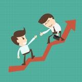 Finanzberater- oder Geschäftsmentorhilfsteampartner bis zu Pro Lizenzfreie Stockfotografie