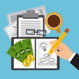 Finanzberechnungen Stockbilder