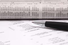 Finanzbericht Lizenzfreie Stockfotos