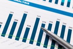Finanzbericht und Grafiken für Geschäft Lizenzfreies Stockfoto