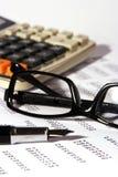 Finanzberichte Stockfotos