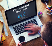 Finanzberichts-Geld-Bargeld-Wachstums-Analyse-Konzept Lizenzfreies Stockbild