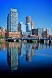 Finanzbezirk von Boston Stockfotografie
