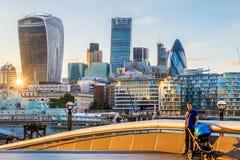 Finanzbezirk von London Lizenzfreie Stockbilder