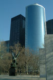 Finanzbezirk von New York City Stockbild