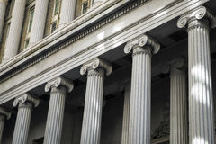 Finanzbezirks-Gebäude, New York City Stockfotografie