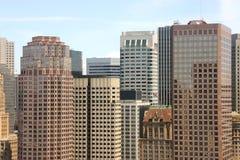 Finanzbezirks-Skyline Lizenzfreie Stockfotos