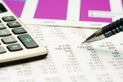 Finanzbuchhaltung Stockfotos