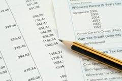 Finanzbuchhaltunghintergrund Lizenzfreie Stockbilder