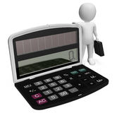 Finanzcharakter-Show-Geschäft Person And Illustration 3d zerreißen lizenzfreie abbildung