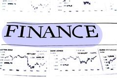 Finanzdaten-Konzept Lizenzfreie Stockfotografie