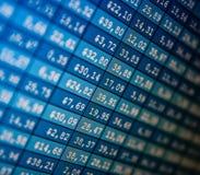 Finanzdatenbestandaustausch Lizenzfreies Stockfoto