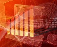 Finanzdatenverarbeitung stock abbildung