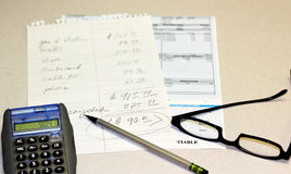 Finanzdefizit lizenzfreie stockbilder