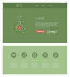 Finanzdesignschablone für Website und apps Stockfoto